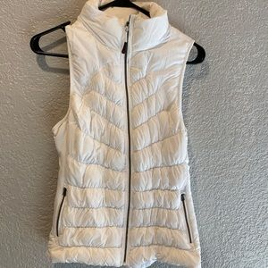 Quilted White Vest
